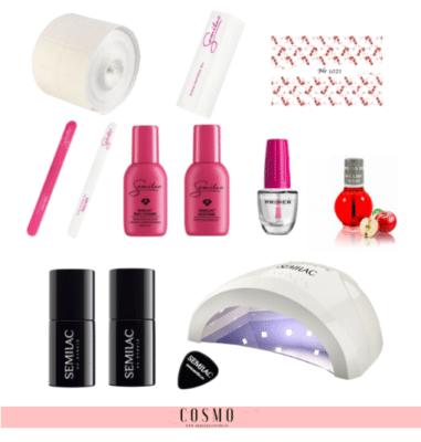 Zestaw-Startowy-Semilac-do-Manicure-Hybrydowego-nr-1-Lampa-LED-UV-24-48